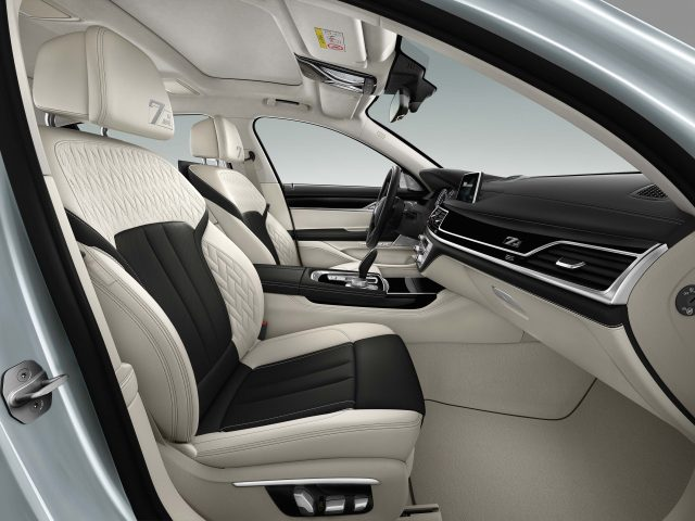 2017 BMW 7-Series 40 Jahre - front seats, white/black leather