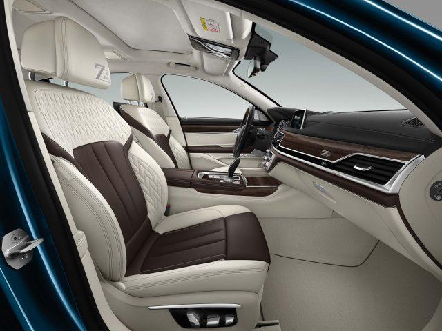 2017 BMW 7-Series 40 Jahre - front seats, white/cohiba leather