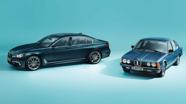 2017 BMW 7-Series 40 Jahre and E23 BMW 7-Series - front