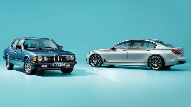 2017 BMW 7-Series 40 Jahre and E23 BMW 7-Series - front and rear