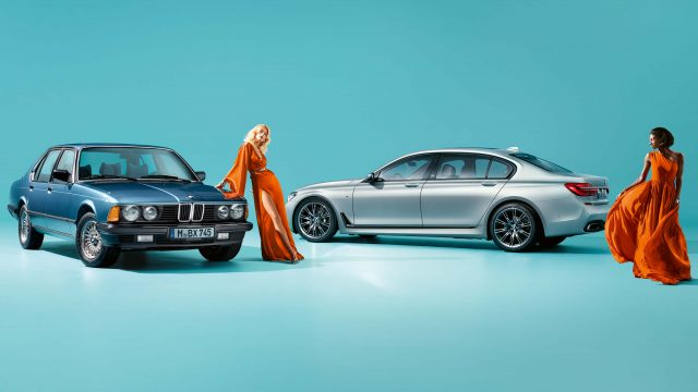 2017 G12 BMW 7-Series 40 Jahre and E23 BMW 7-Series - with female models