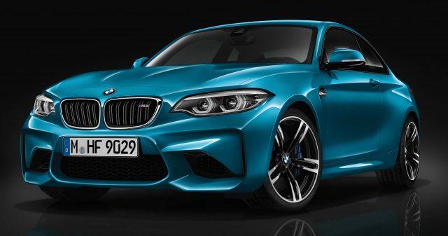F87 BMW M2 facelift - front, aqua blue