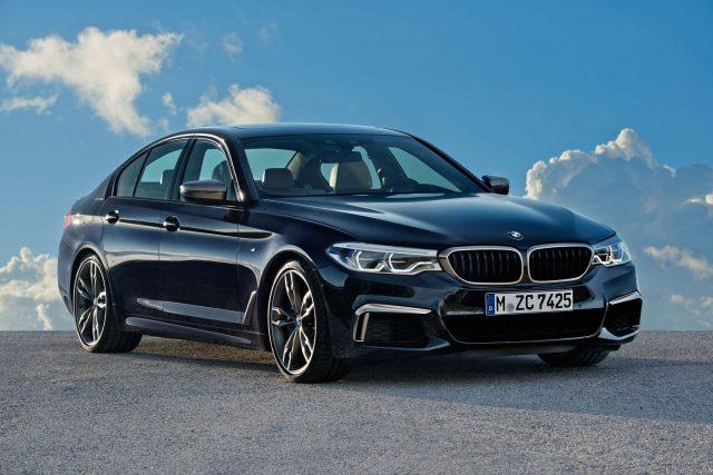 G30 BMW M550i xDrive - front, blue