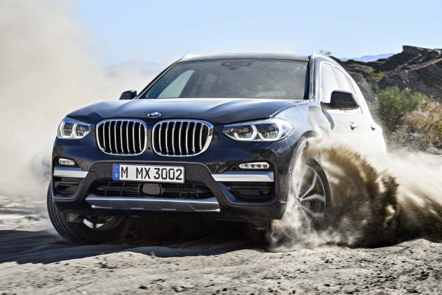 2017 BMW X3 xDrive30d - front, sand, offroad