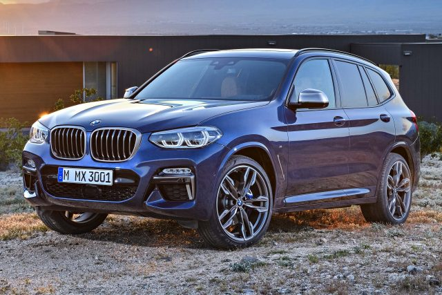 2017 BMW X3 xDrive M40i - front, blue