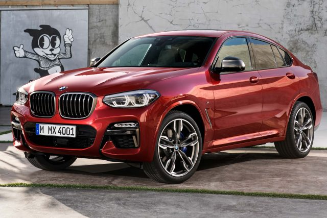 2018 BMW X4 M40d - front, red