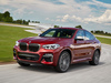 2019 BMW X4 M40d xDrive - front, red, race track