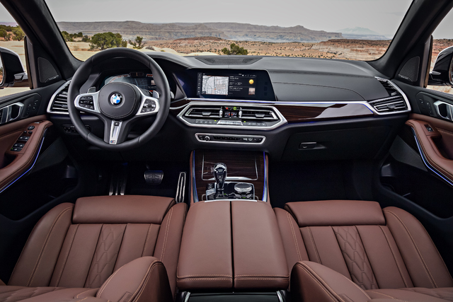2019 BMW X5 - dashboard, tan leather, interior