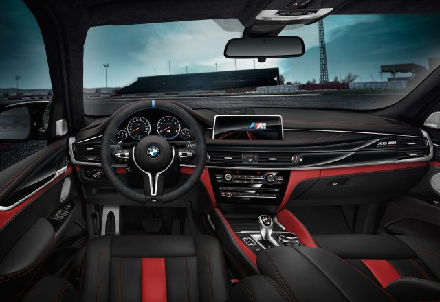 2017 BMW X6 Black Fire Edition - interior, black and red leather