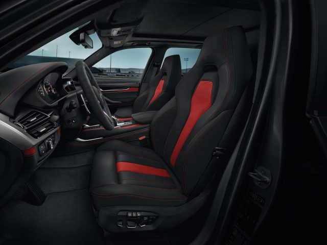 2017 BMW X6 Black Fire Edition - front seats