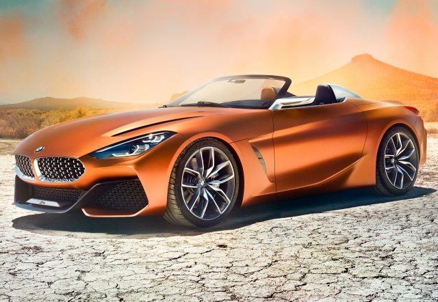 2017 BMW Z4 Concept - front, bronze/orange, top down