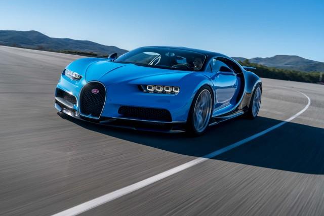 Bugatti Chiron - front, race track