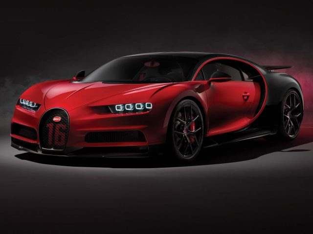 Bugatti Chiron Sport - front, red and black