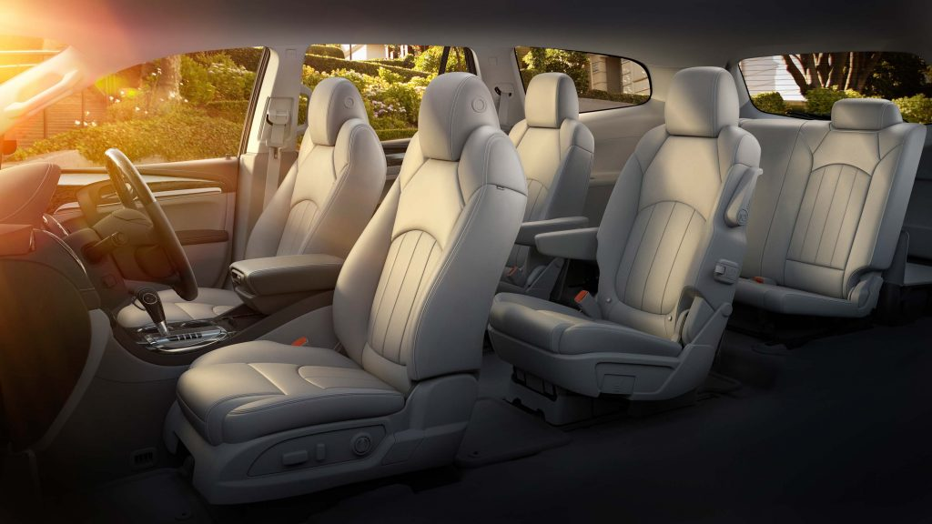 2014 Buick Enclave - seating layout