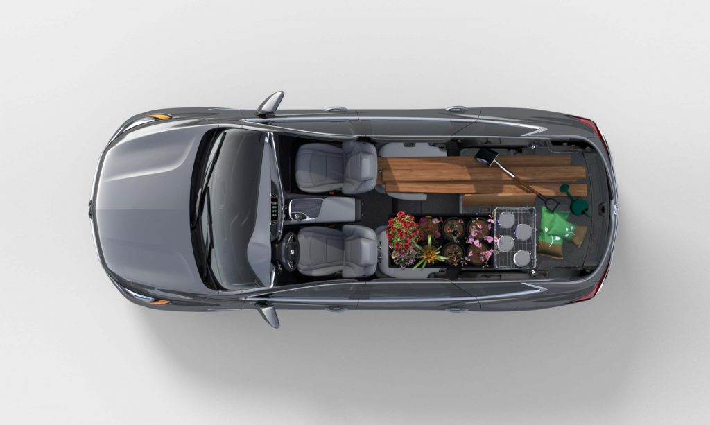 2018 Buick Enclave - storage layout