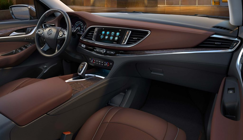 2018 Buick Enclave Avenir - interior, brown leather, dashboard
