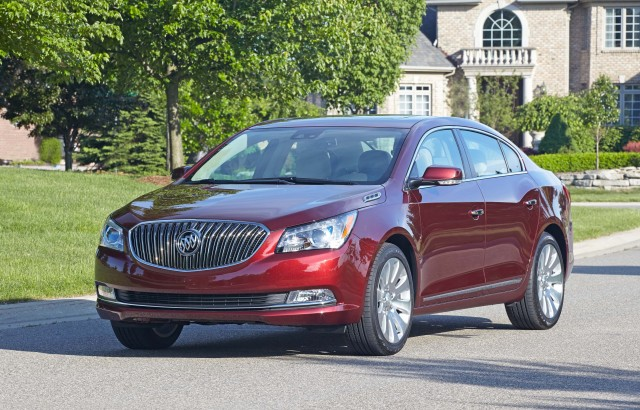 2016 Buick LaCrosse 1SL AWD - front, burgundy