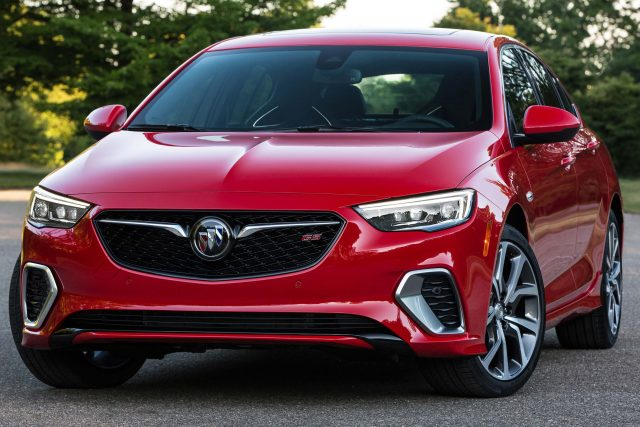 2018 Buick Regal GS - front, red