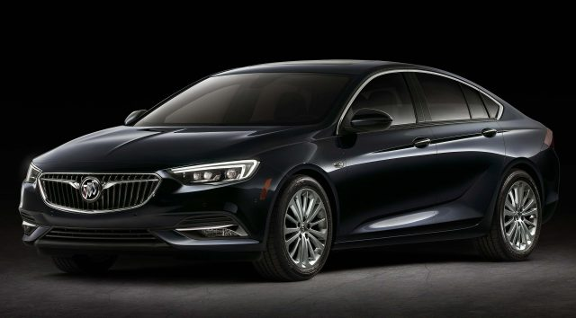 2018 Buick Regal Sportback - front, black