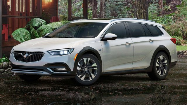 2018 Buick Regal TourX - white, front