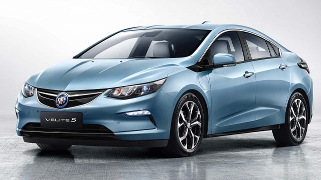 Buick Velite 5 - front, blue