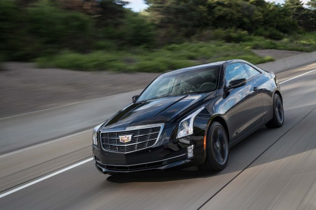 2017 Cadillac ATS coupe with Carbon Black package - front