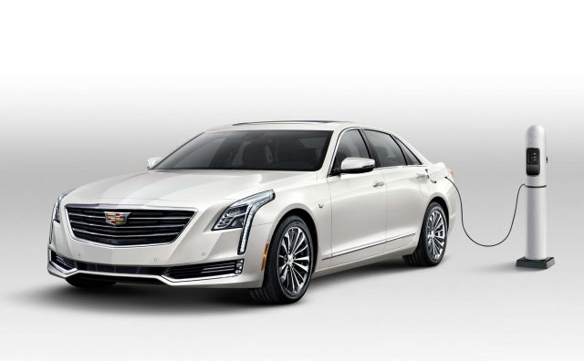 2017 Cadillac CT6 Plug-in Hybrid - front, charging, plugged in