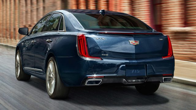 2018 Cadillac XTS Platinum facelift - rear, blue