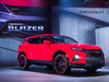 2019 Chevrolet Blazer RS - front, red, on stage, launch