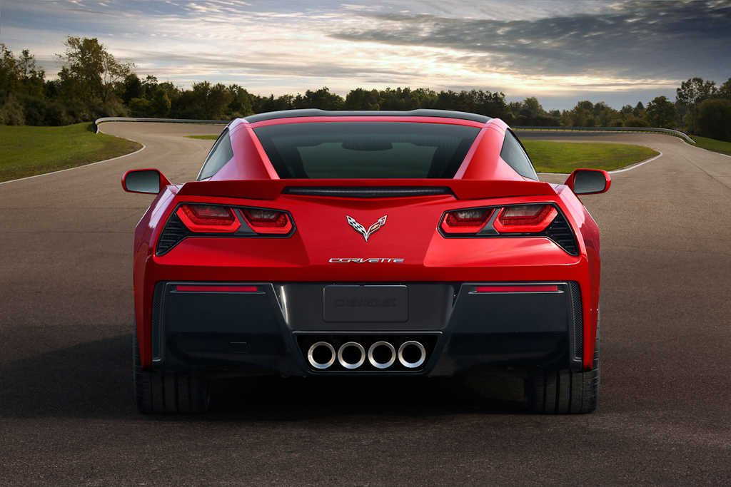 2014 Chevrolet Corvette Stingray - rear with quad central exhausts