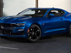 2019 Chevrolet Camaro SS coupe facelift - front, blue