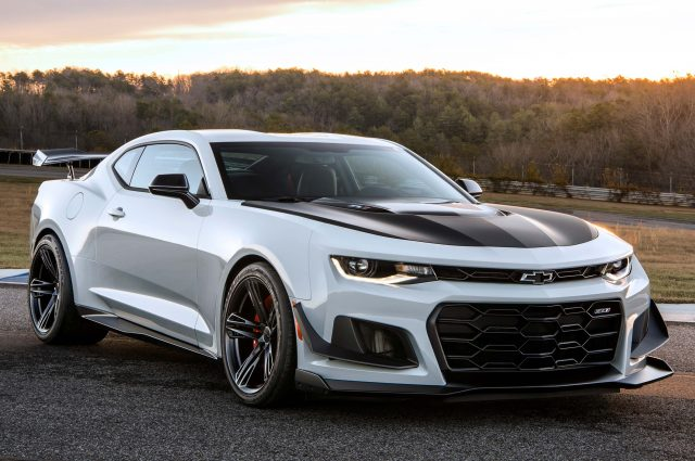 2018 Chevrolet Camaro ZL1 1LE - front, white with black hood
