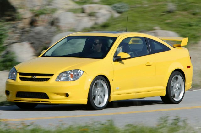 2009 Chevrolet Cobalt SS Coupe - front, yellow
