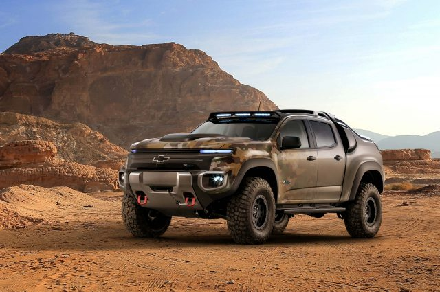 Chevrolet Colorado ZH2 fuel cell electric vehicle - front