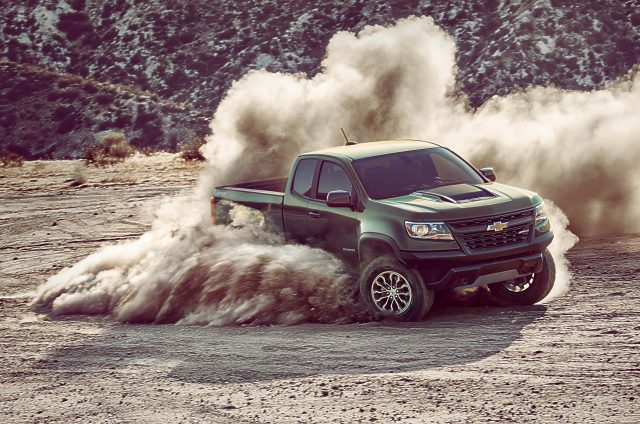 2017 Chevrolet Colorado ZR2 - front, driving, dust cloud
