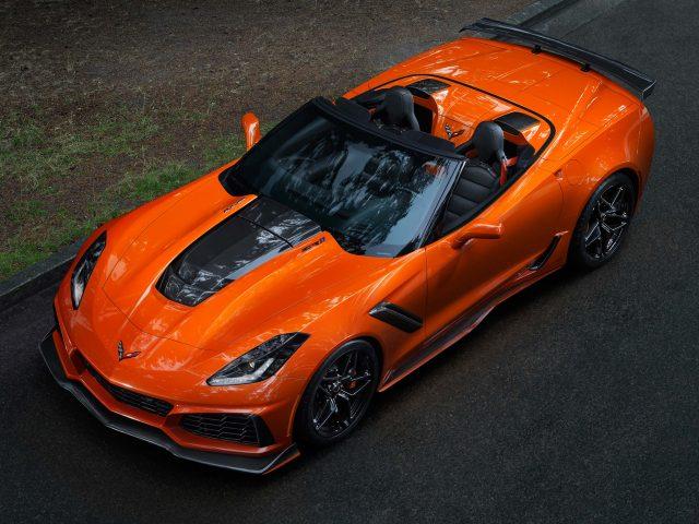 2019 Chevrolet Corvette ZR1 Convertible - front, orange