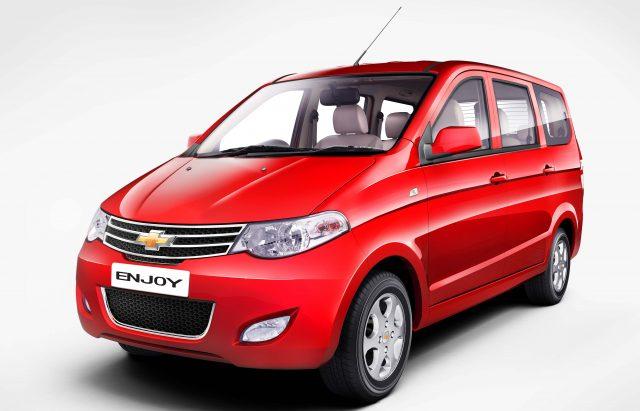 2016 Chevrolet Enjoy - front, red