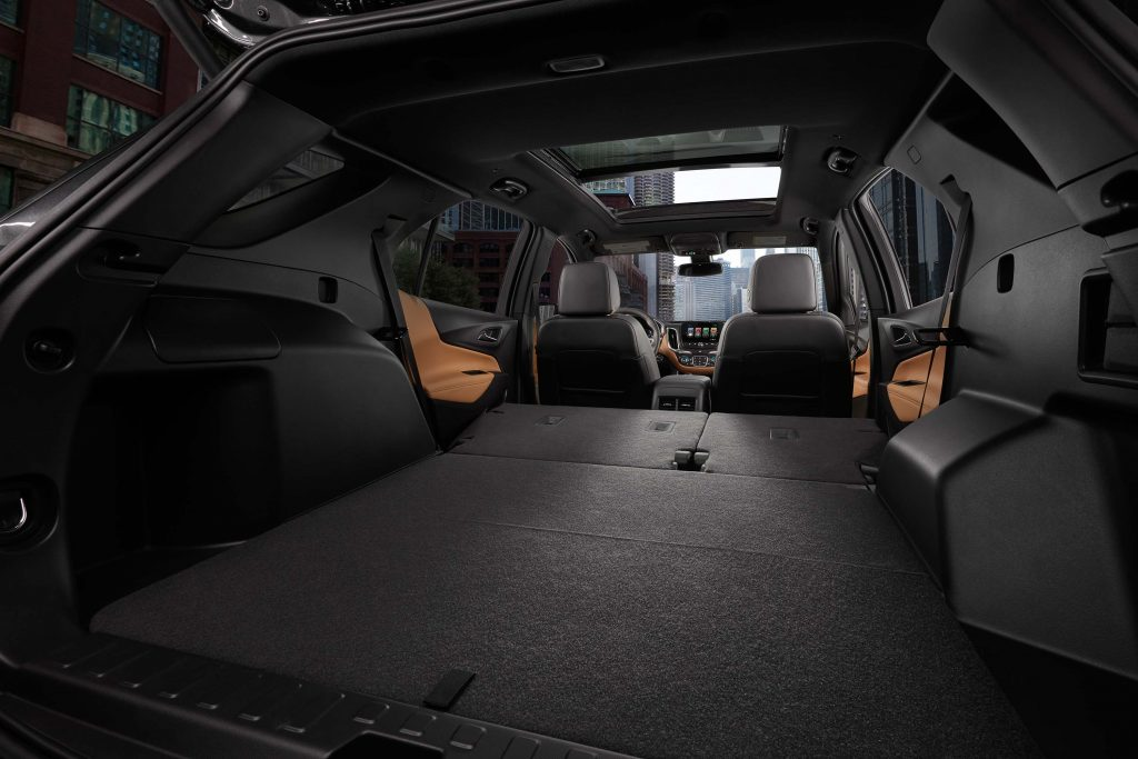 2018 Chevrolet Equinox - rear seats down, trunk space