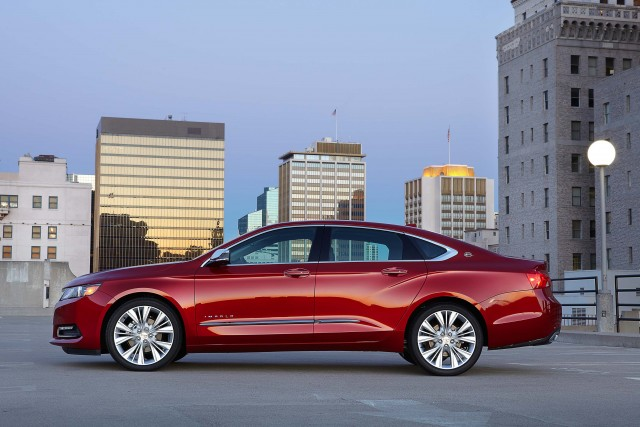 2016 Chevrolet Impala LTZ - side, red