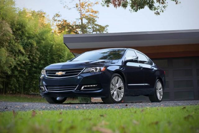 2016 Chevrolet Impala - blue, front, driveway