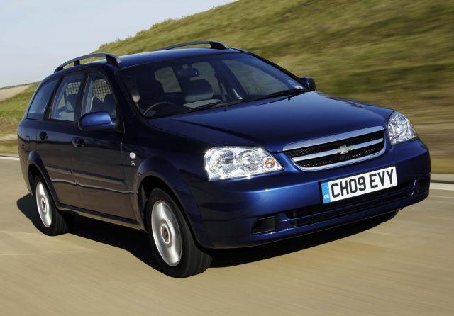 2009 J200 Chevrolet Lacetti wagon - front, blue