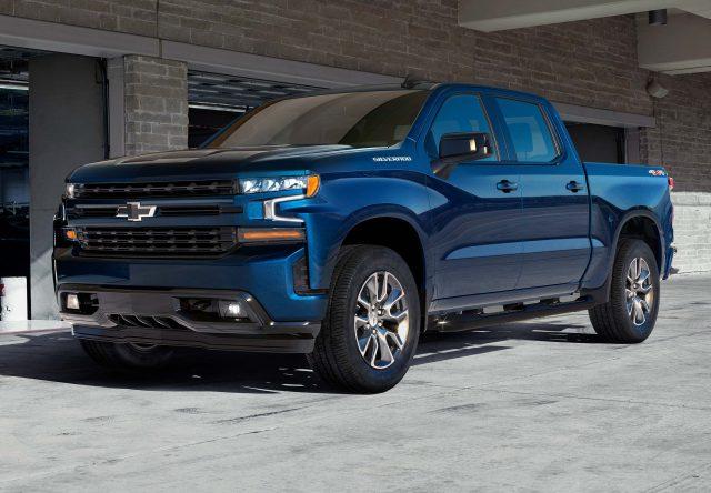 2019 Chevrolet Silverado RST - front, blue