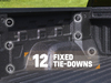 An additional nine moveable tie-down points are available as well for even more cargo flexibility. Together, these 21-total tie-downs are the most of any full-size pickup.