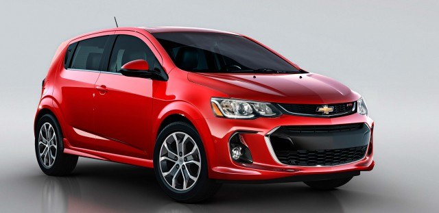 2017 Chevrolet Sonic Turbo LT RS hatch facelift - front