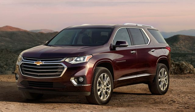 2018 Chevrolet Traverse - front, burgundy
