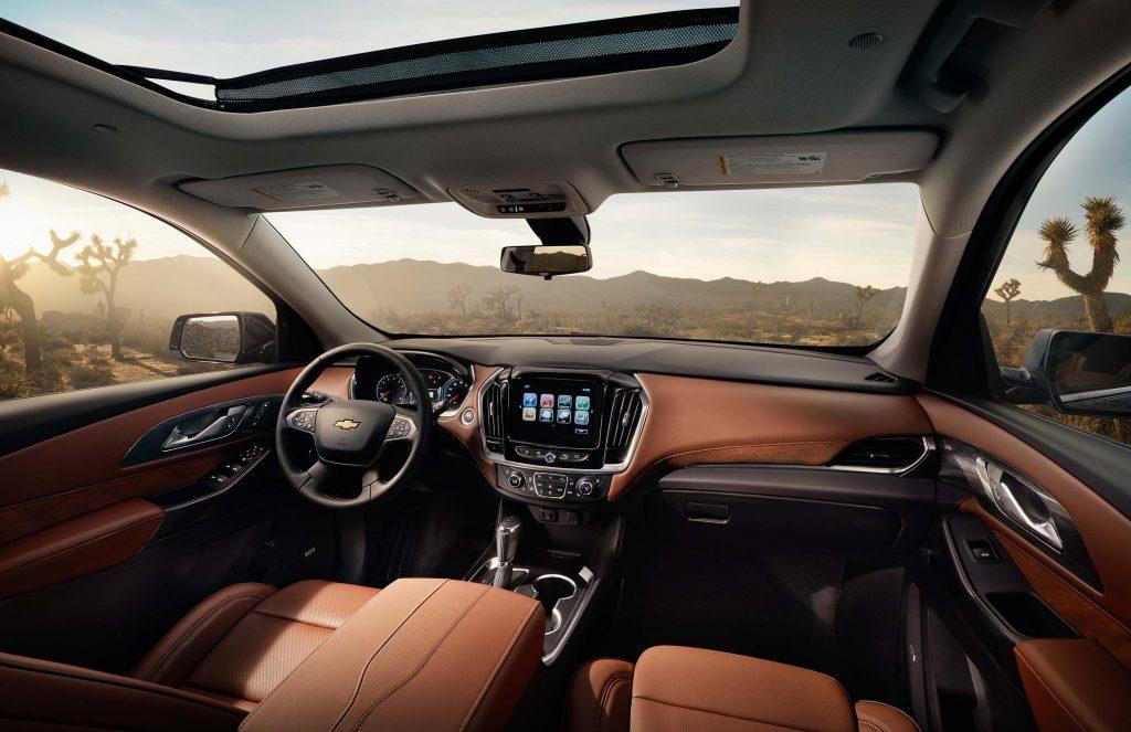 2018 Chevrolet Traverse - interior, orange leather, dashboard