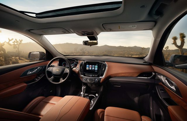 2018 Chevrolet Traverse - interior, orange leather, dashboard