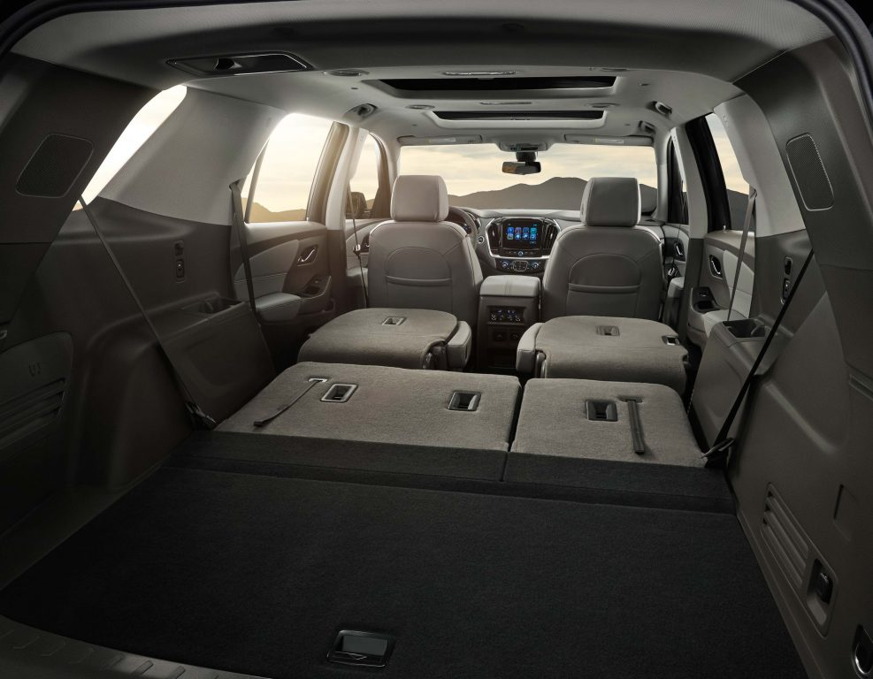 2018 Chevrolet Traverse - second and third rows folded flat