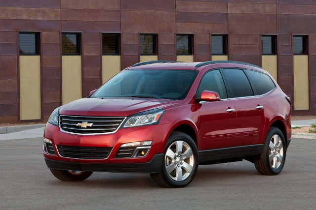 2016 Chevrolet Traverse LTZ - front, red