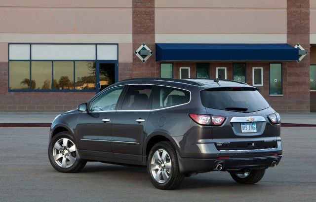 2016 Chevrolet Traverse LTZ - rear, gray